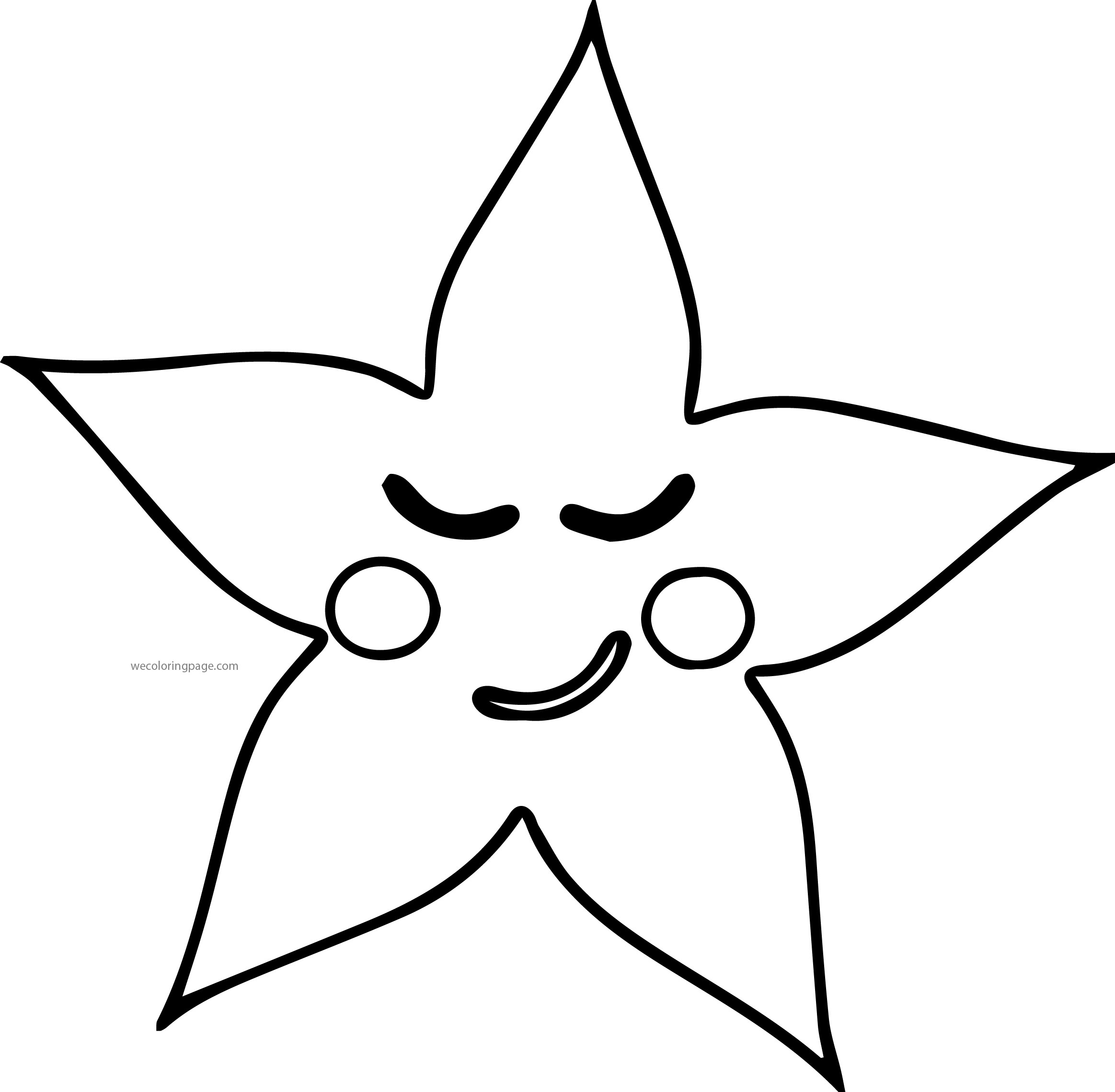 Sleeping Star Coloring Page