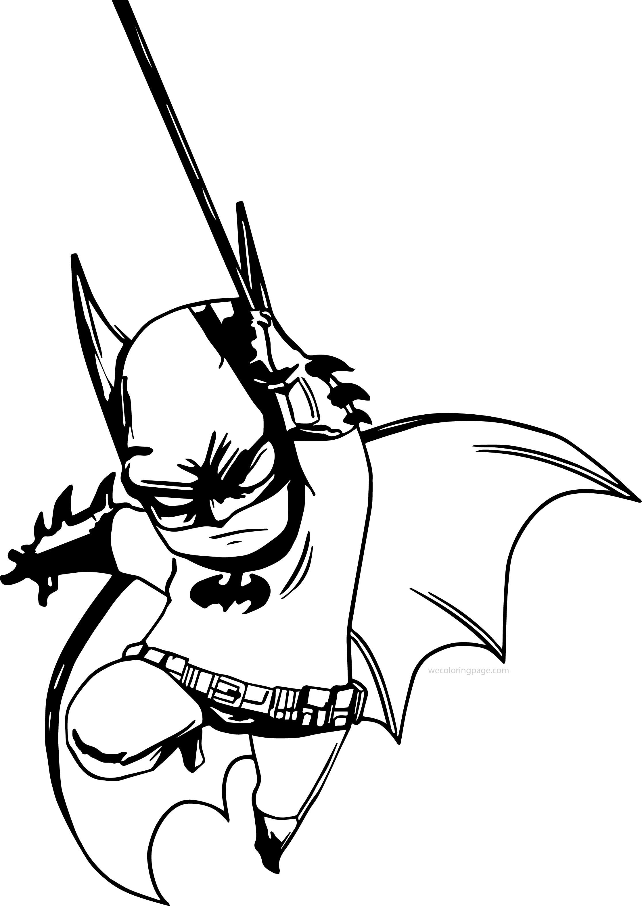 Small Fat Batman Coloring Page