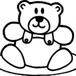Small Toy Cute Bear Coloring Page