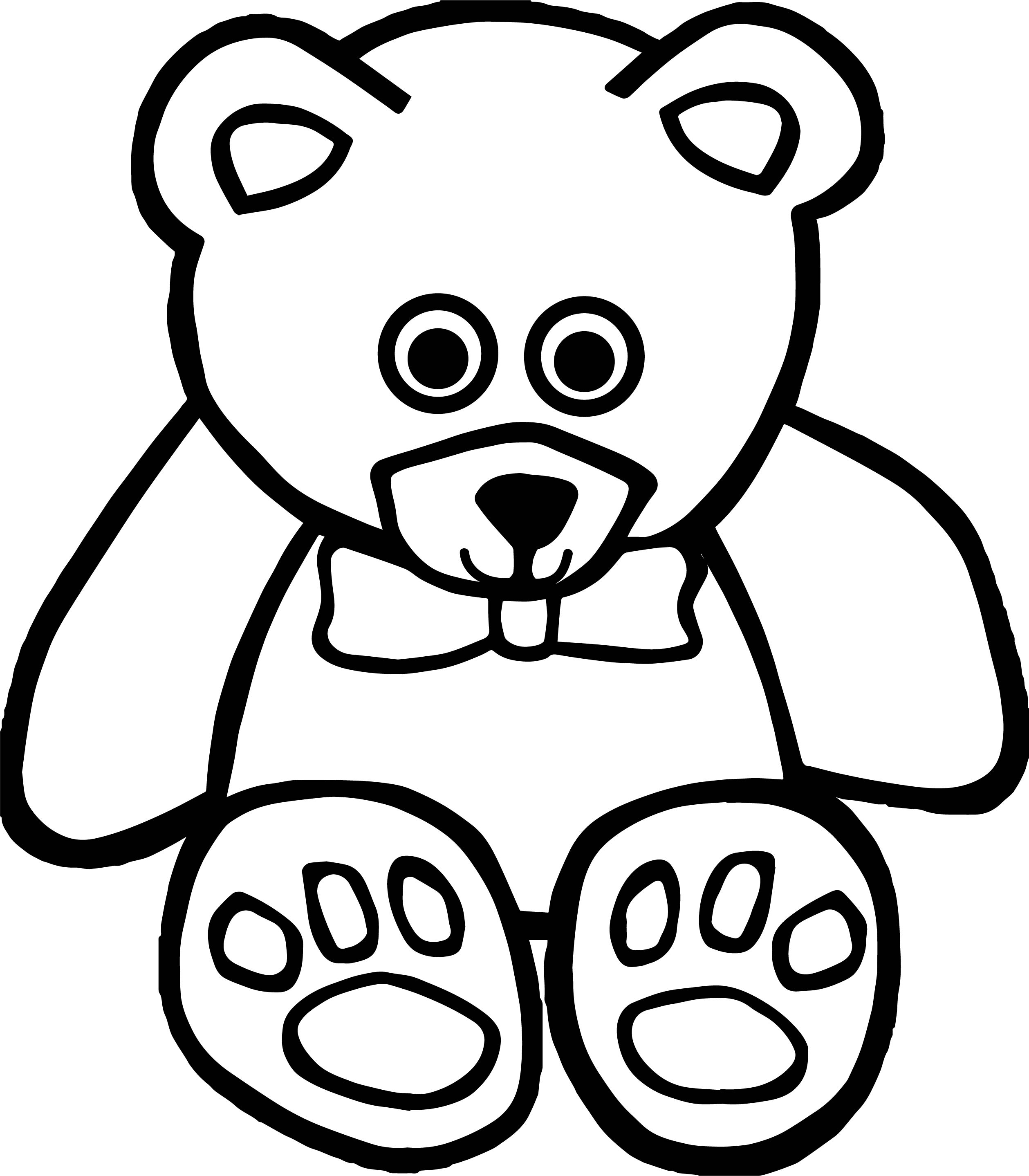 Smile Toy Bear Smile Coloring Page