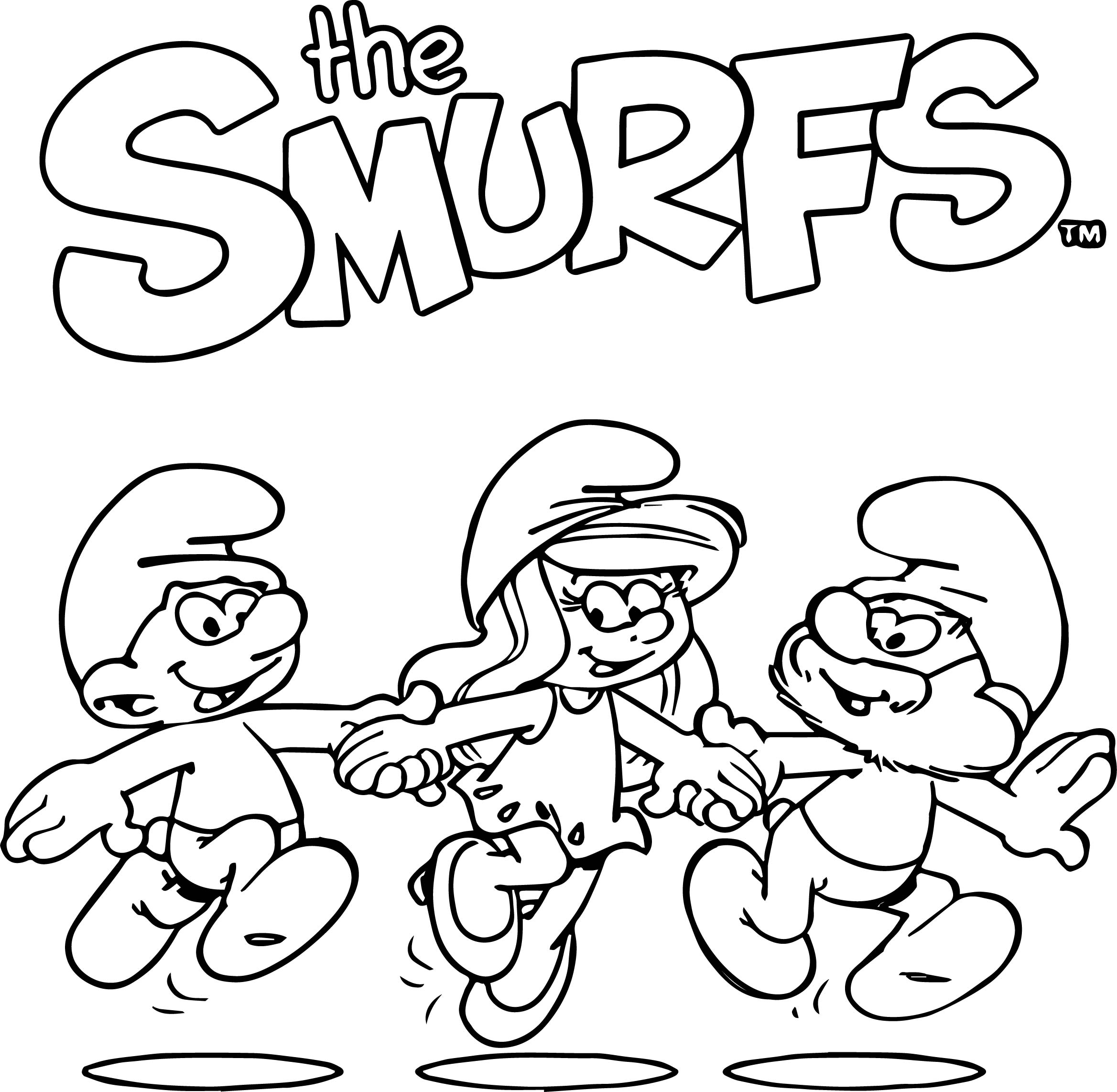 Smurf the smurfs coloring page