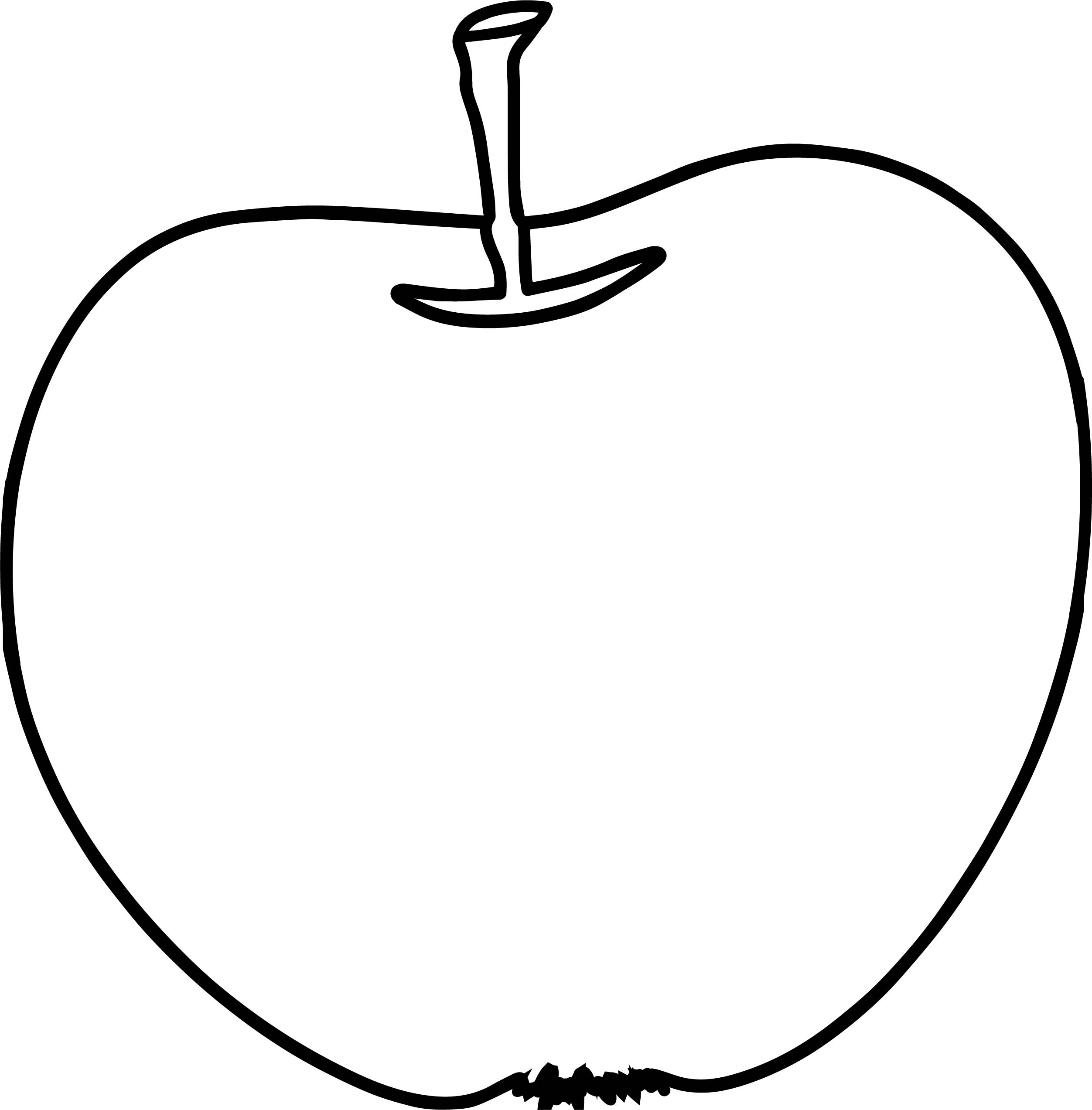 Snack Free Illustration Apple Coloring Page  Wecoloringpage