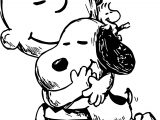 Snoopy And Charlie Brown Black White Sketch Coloring Page