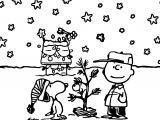 Snoopy And Charlie Brown Christmas Brs Coloring Page
