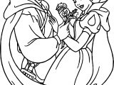 Snow White And The Prince Flower Coloring Page
