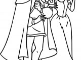Snow White And The Prince Walking Coloring Page