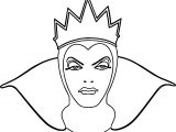 Snow White Evil Queen Witch And Huntsman Front View Face Coloring Page