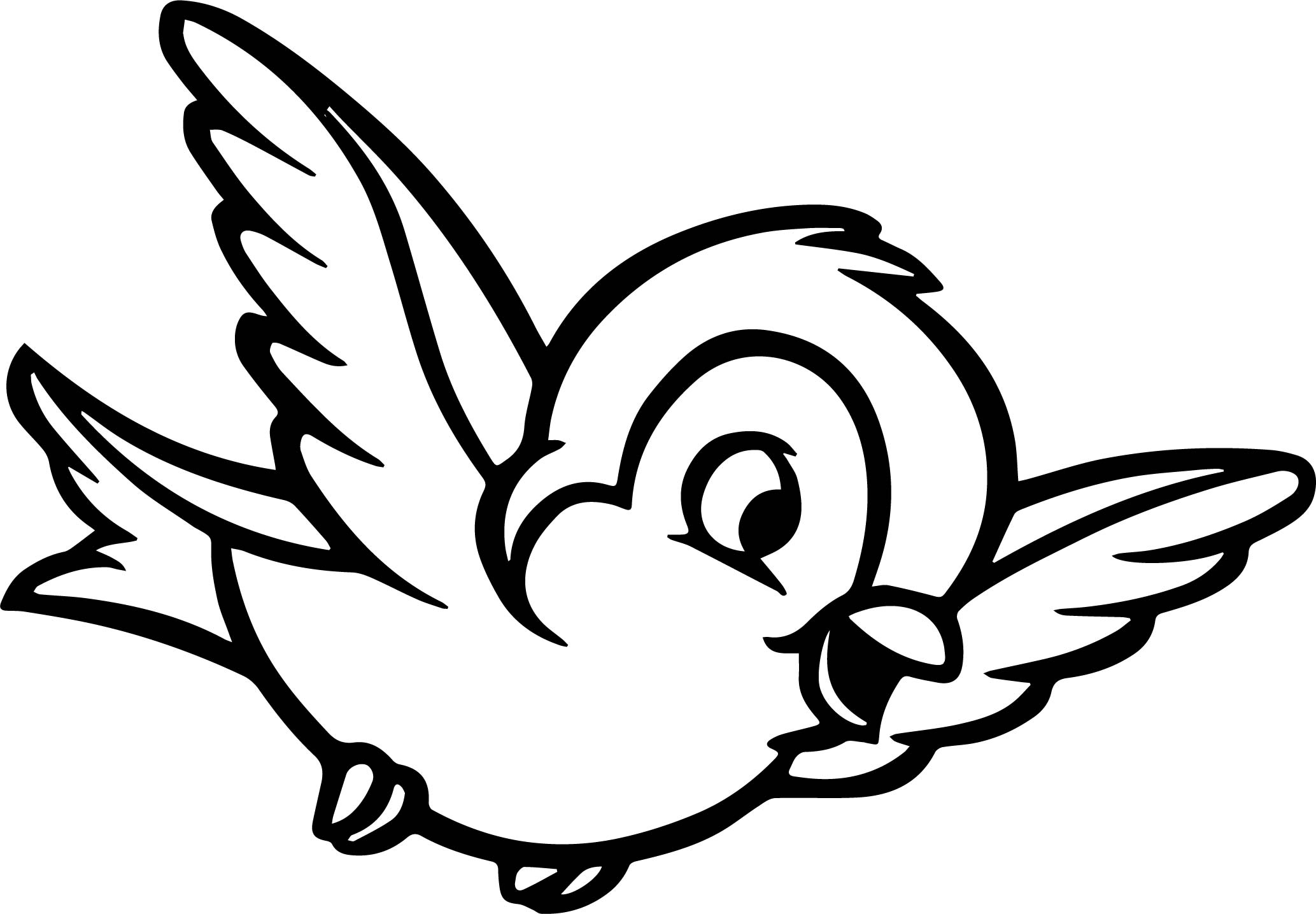 Snow White Forest Animals Snow White Bird Coloring Pages ...