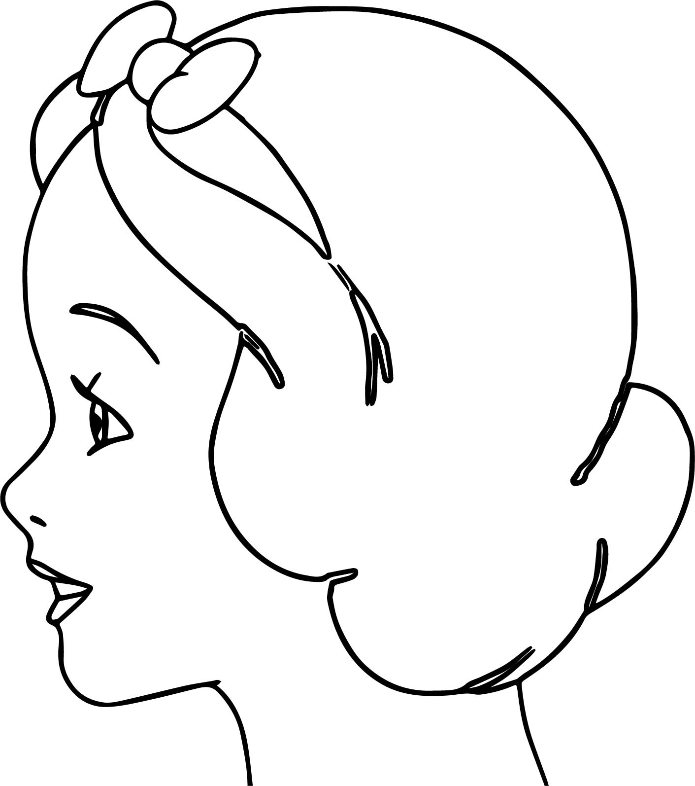 Snow White Side Face Coloring Page