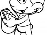 Social Smurf Coloring Page