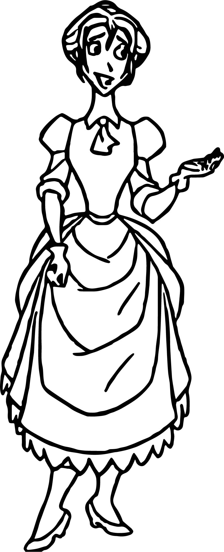 Standing Jane Coloring Pages