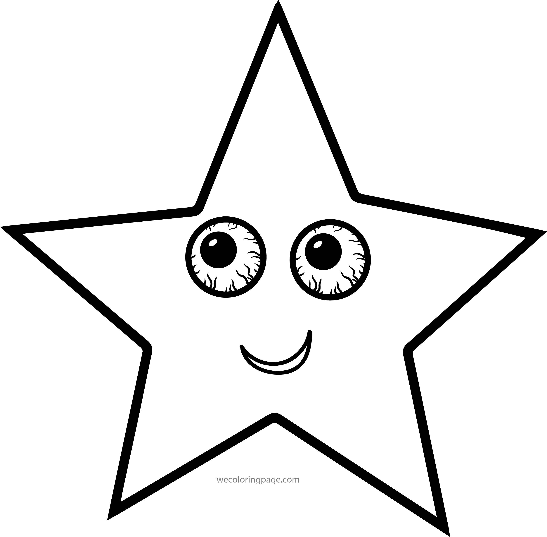 Star Eye No Sleep Coloring Page