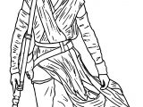 Star Wars The Force Awakens Rey Coloring Page