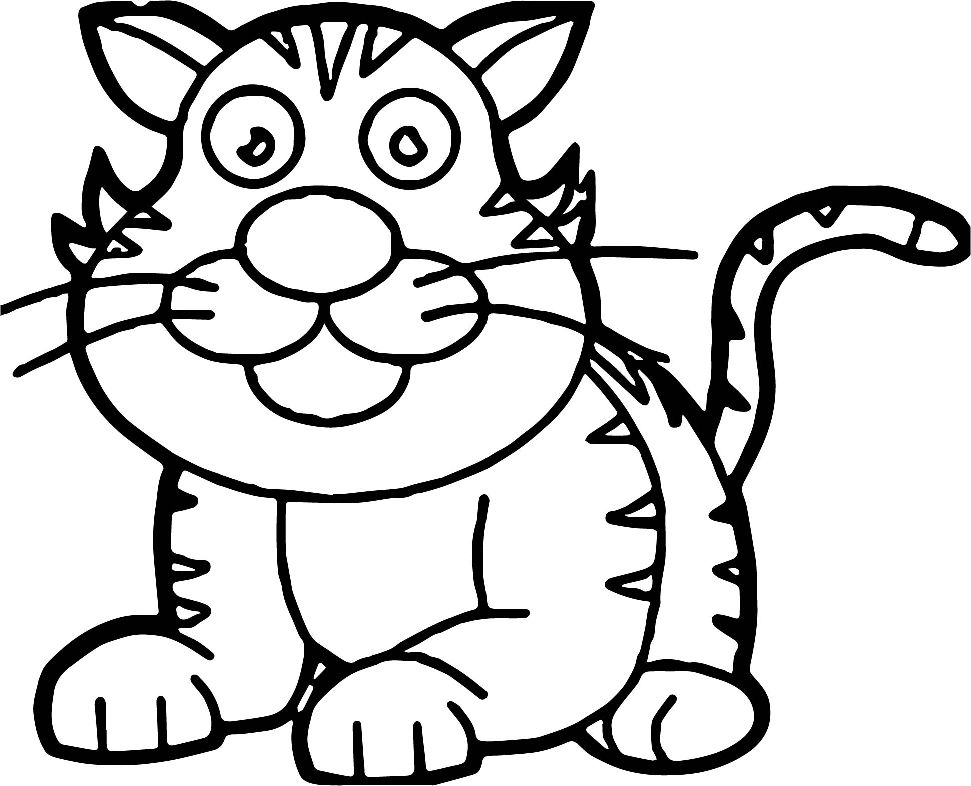 Staying Tiger Coloring Page