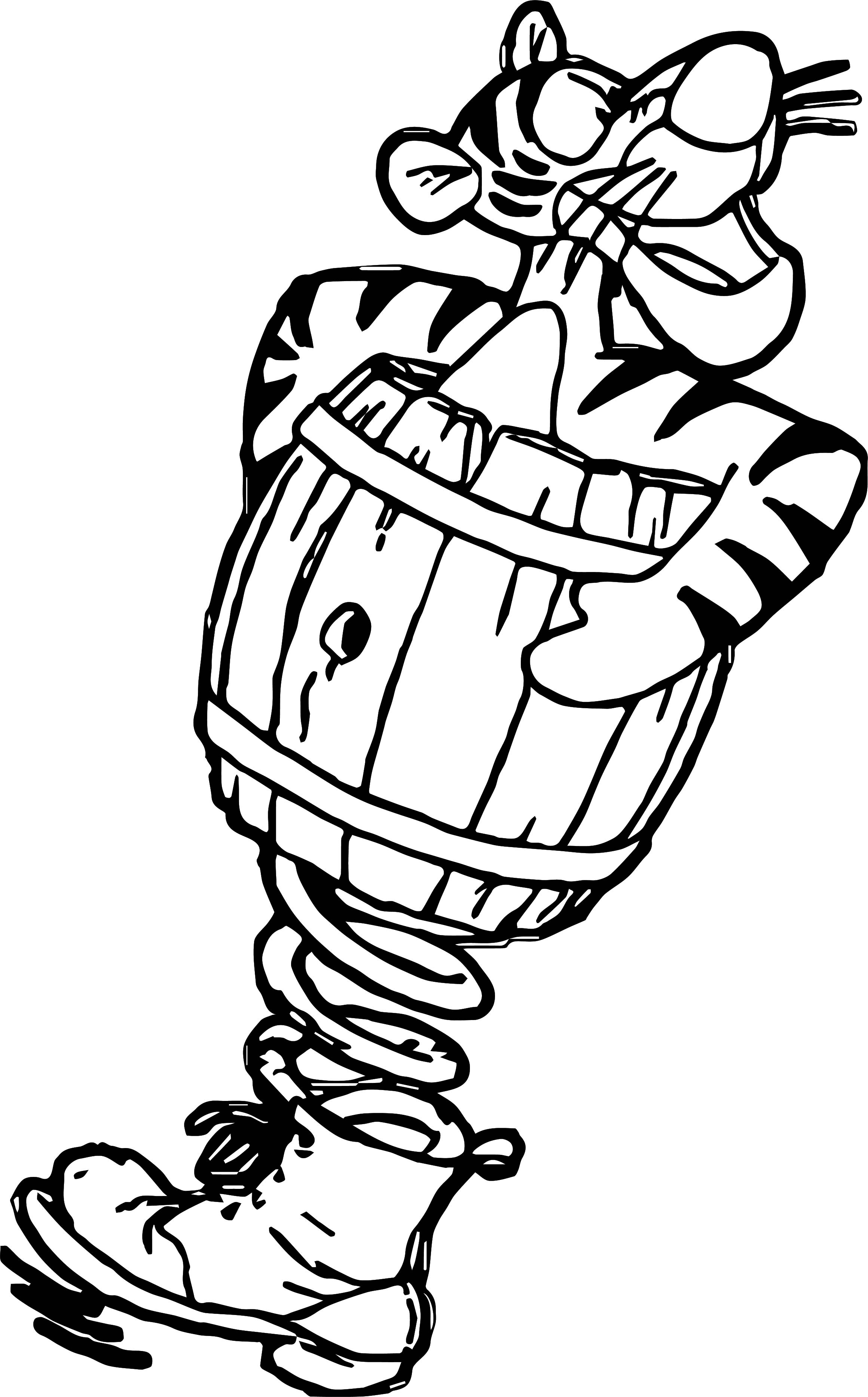 Sticky Tigger Coloring Page Wecoloringpage