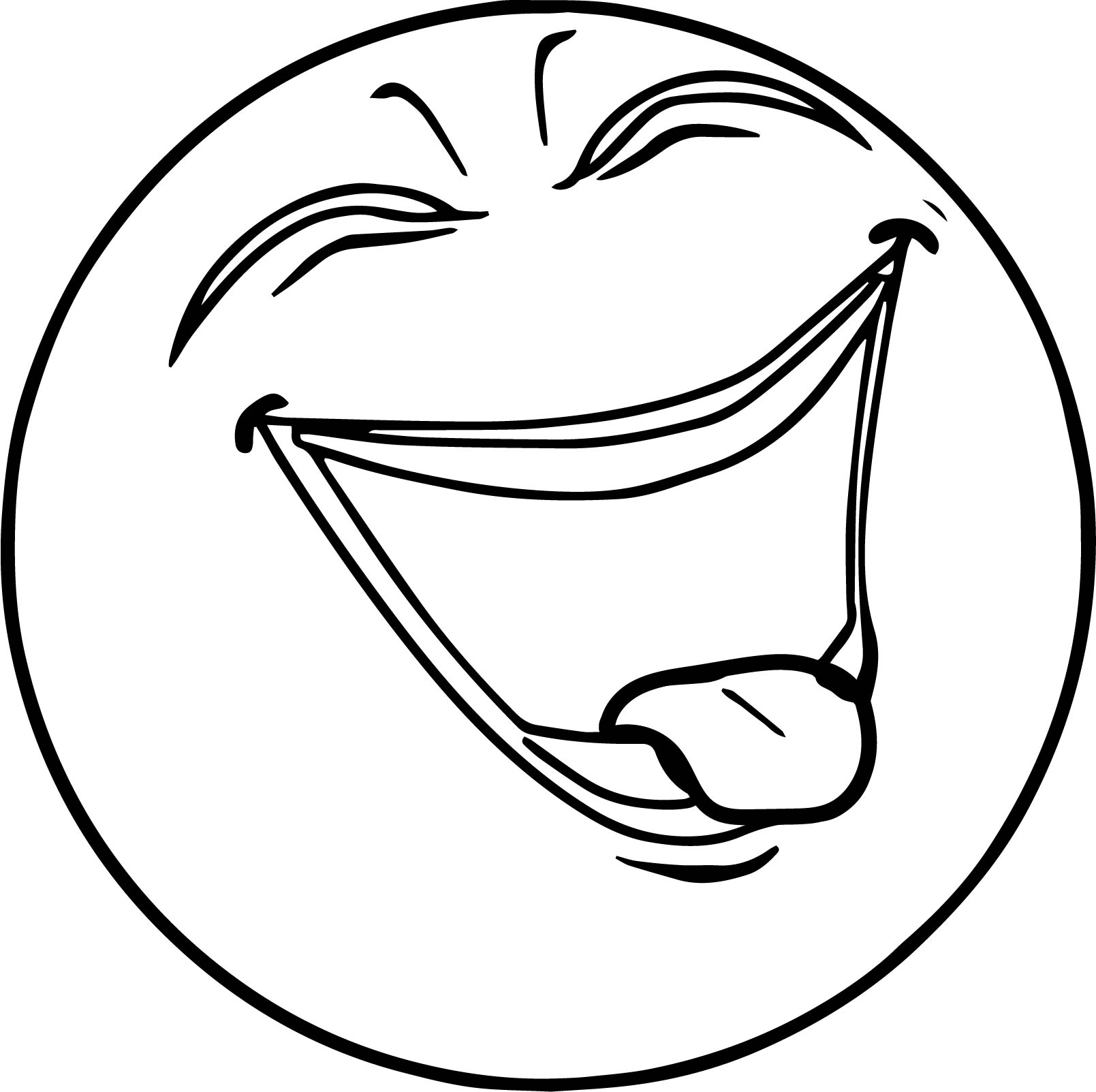 Super happy face coloring page for Face coloring pages