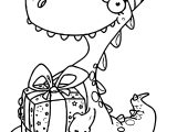Suprise Baby Dinosaur Coloring Page