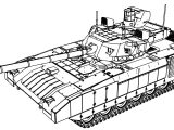 T 14 Armata Tank Perspective View Coloring Page