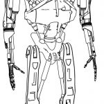 T 802 Body Droid Robot Coloring Page