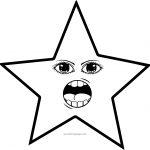 Talking Woman Star Eye Coloring Page