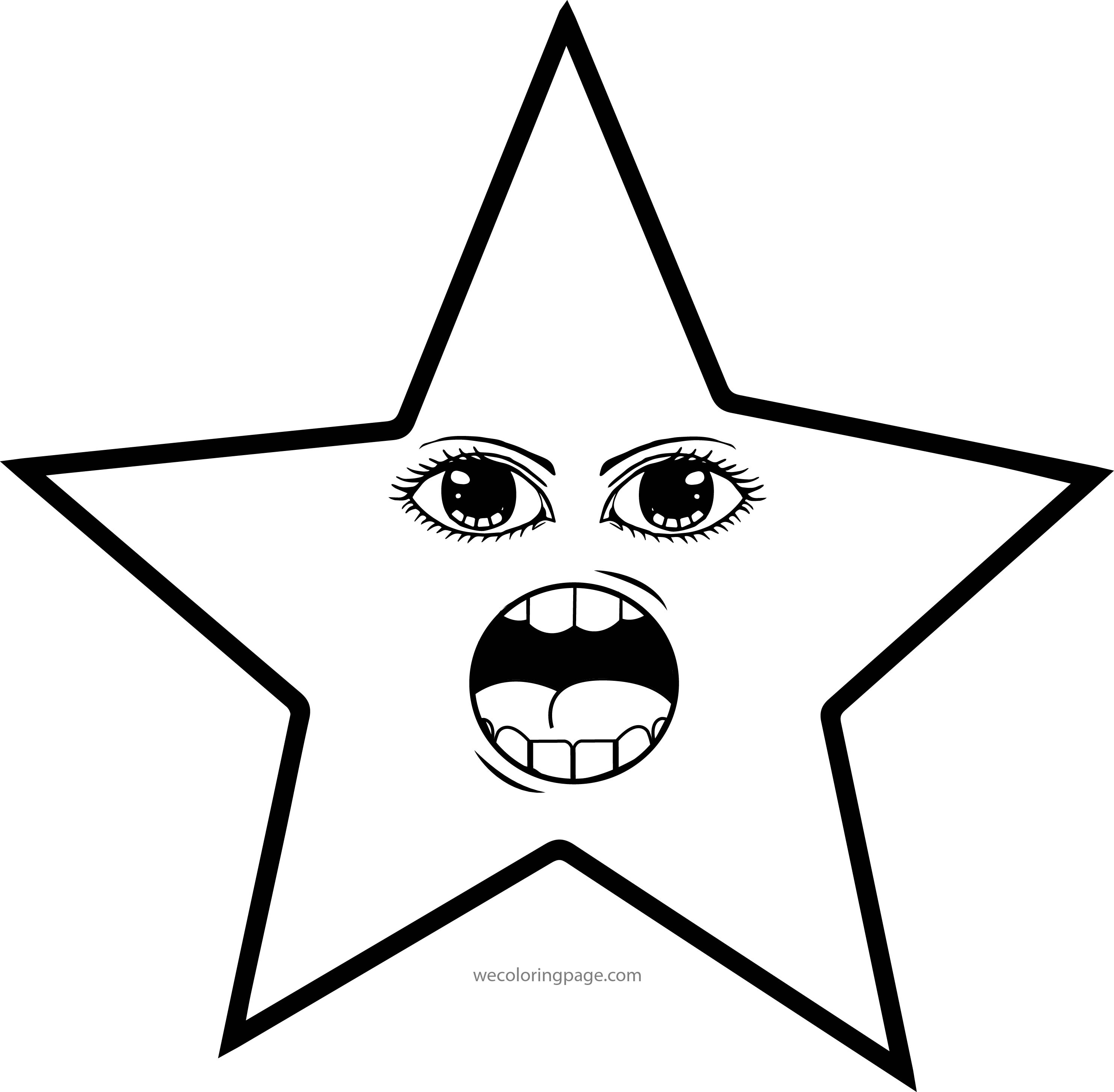 Talking Woman Star Eye Coloring Page