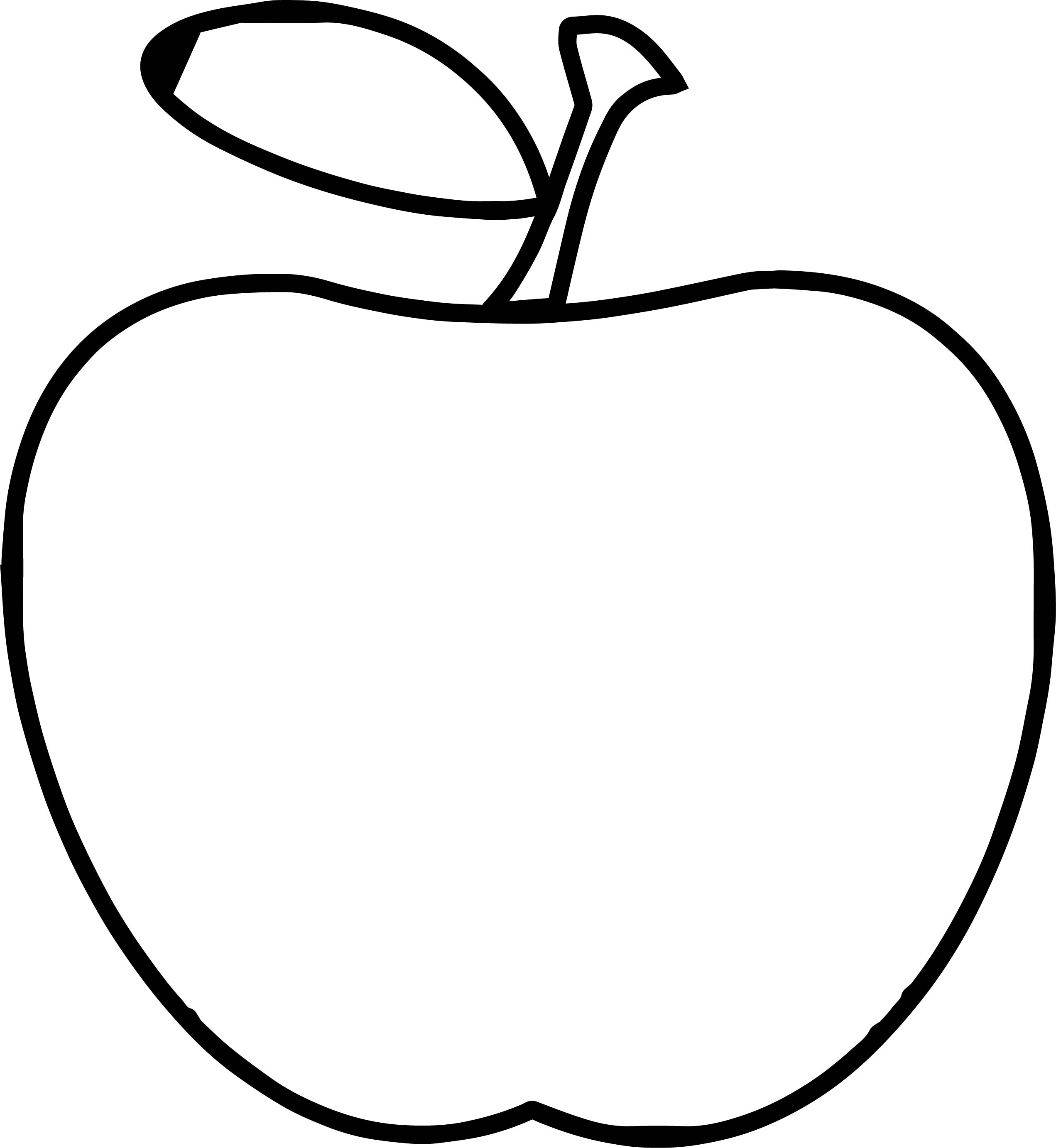 Teacher Apple Apple Simple Coloring