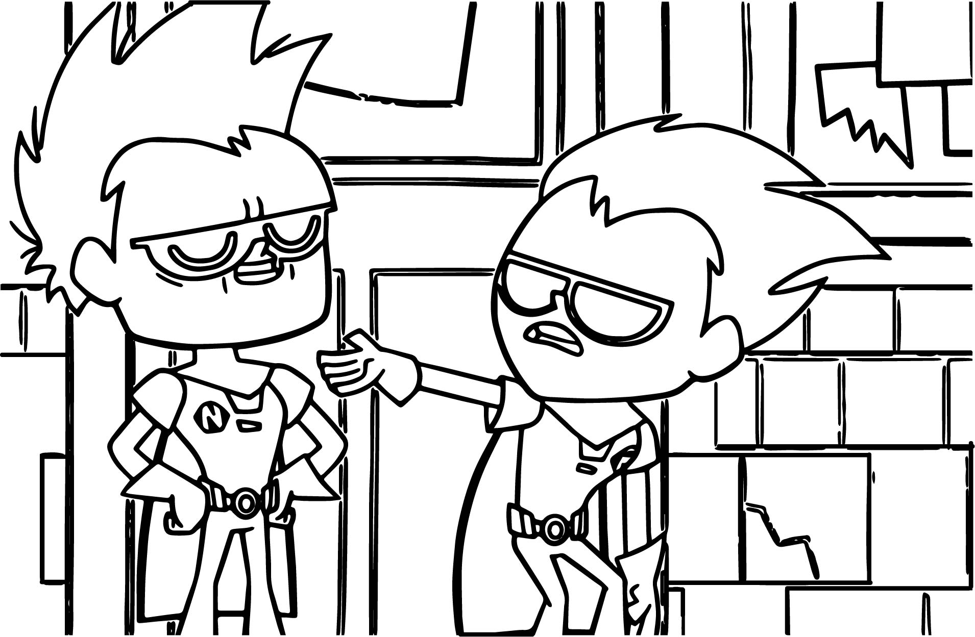 Teen titans go robin give me coloring page for Teen titans coloring pages