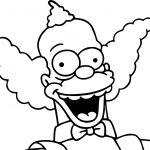 The Simpsons Krusty Coloring Page
