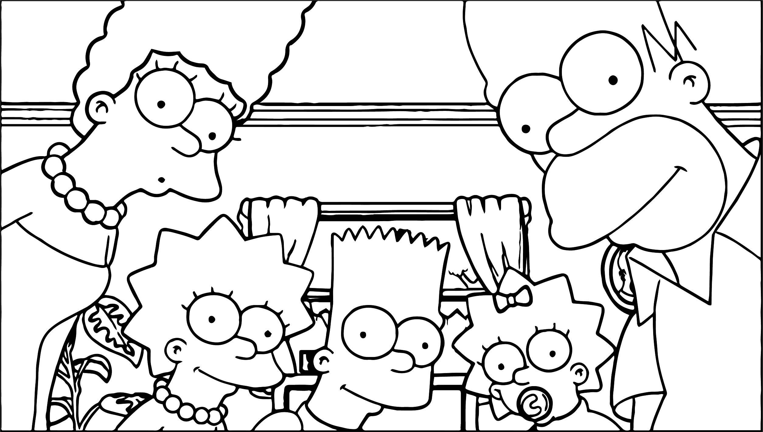 The Simpsons Photo Coloring Page