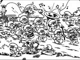 The Smurfs Smurf Village Song Coloring Page