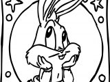 Thinking Baby Bugs Bunny Coloring Pages