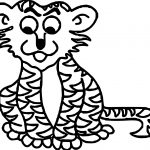 Thinking Tiger Coloring Page