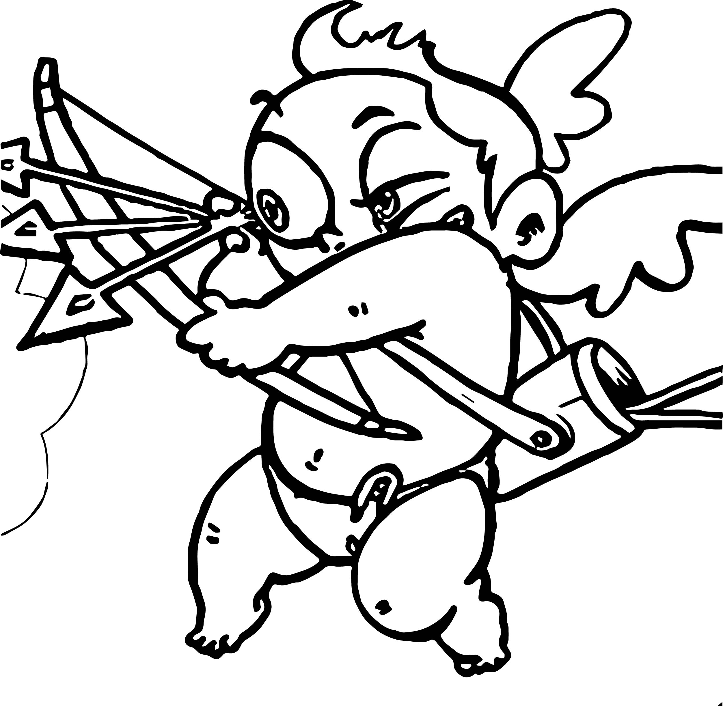 Three Arrow Baby Cupido Coloring Page