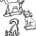 Three Disney The Aristocats Style Coloring Page
