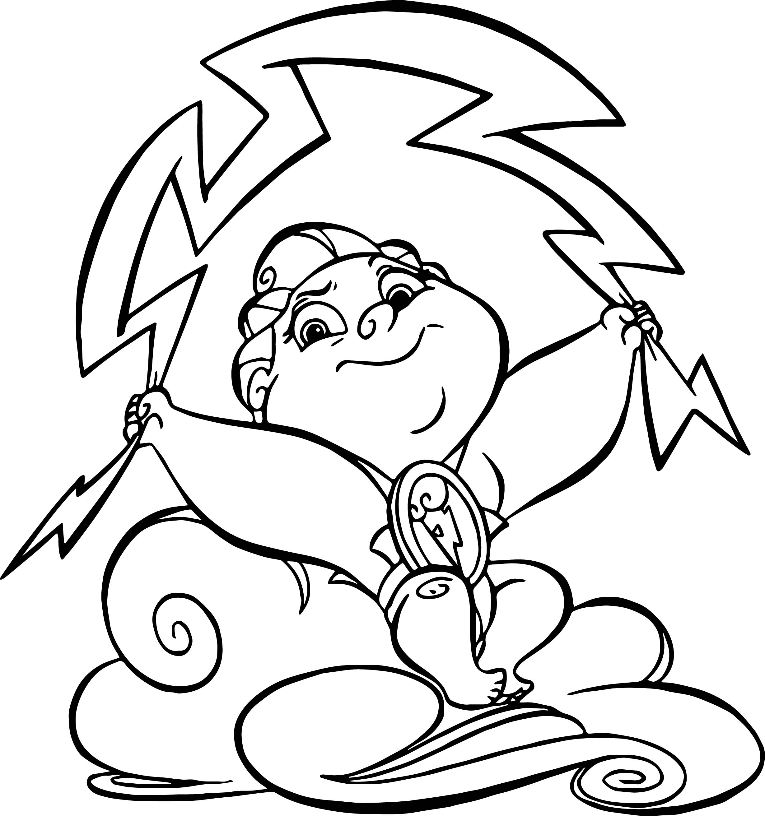 Thunder Baby Hercules Coloring Pages