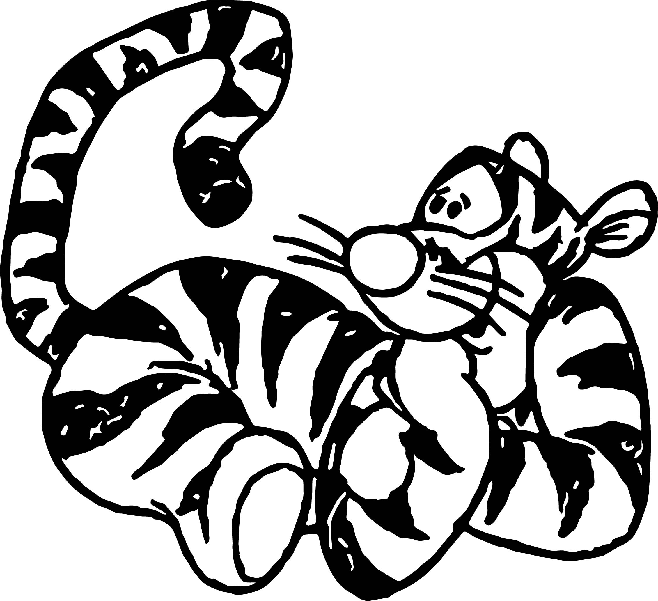 Tigger Winnie The Pooh Hope Coloring Page