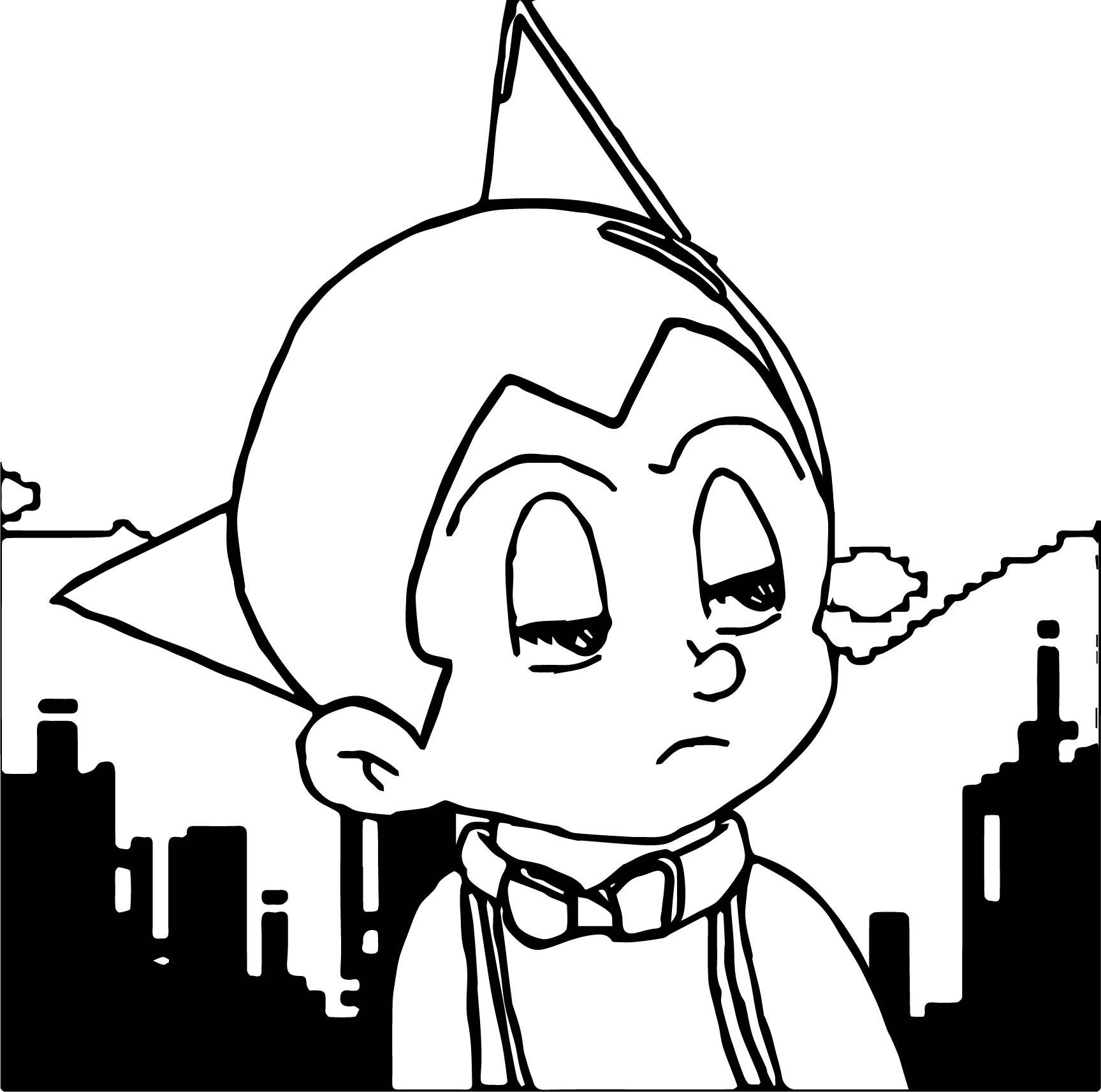 Tobio Astro Boy Evil Coloring Page