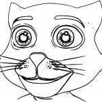 Tom Cat Big Face Coloring Page
