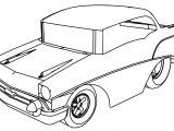 Tooned Chevy Cartoon Car Coloring Page