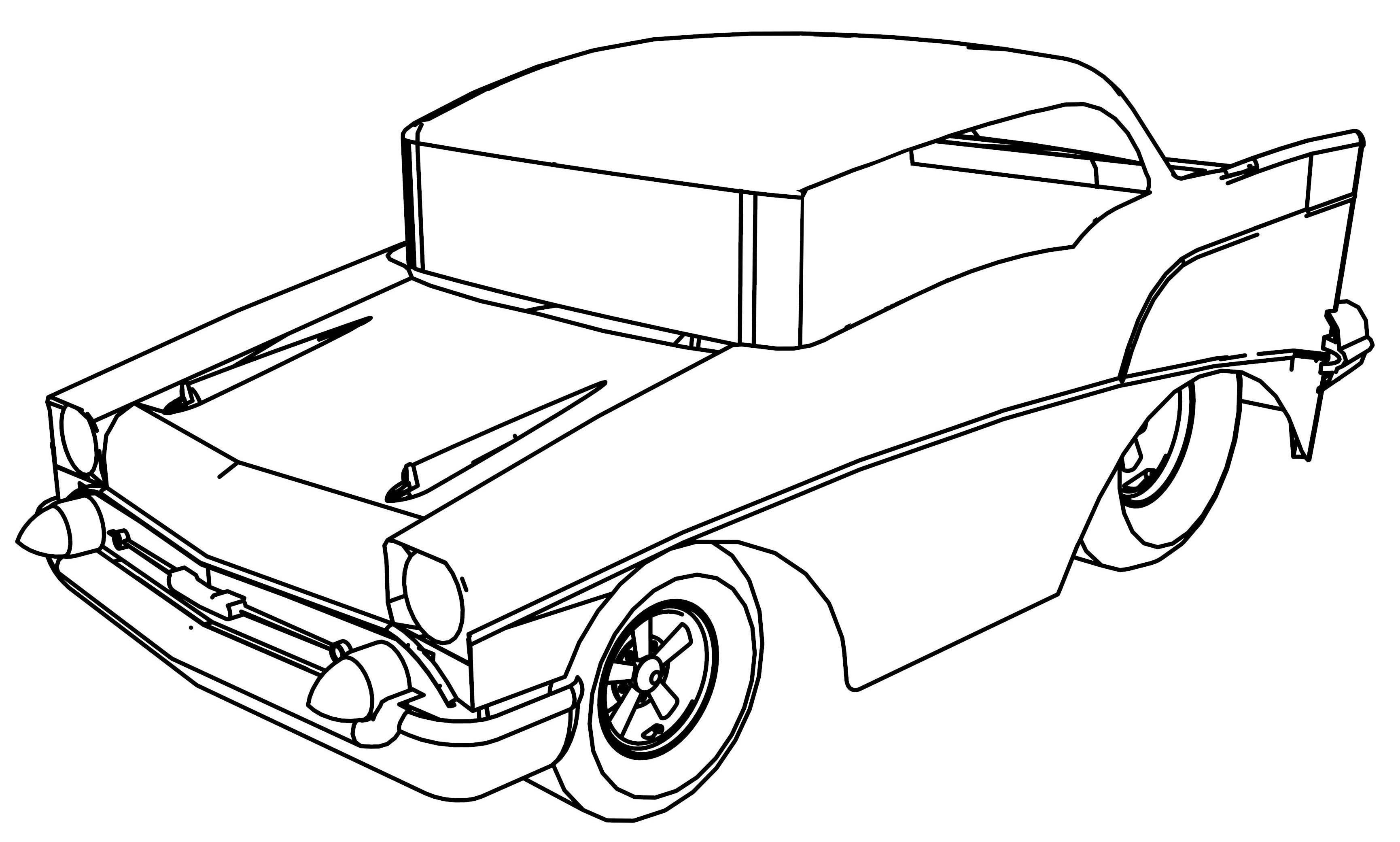 Coloring Pages Cars Cartoon : Woody woodpecker in a car coloring page pages