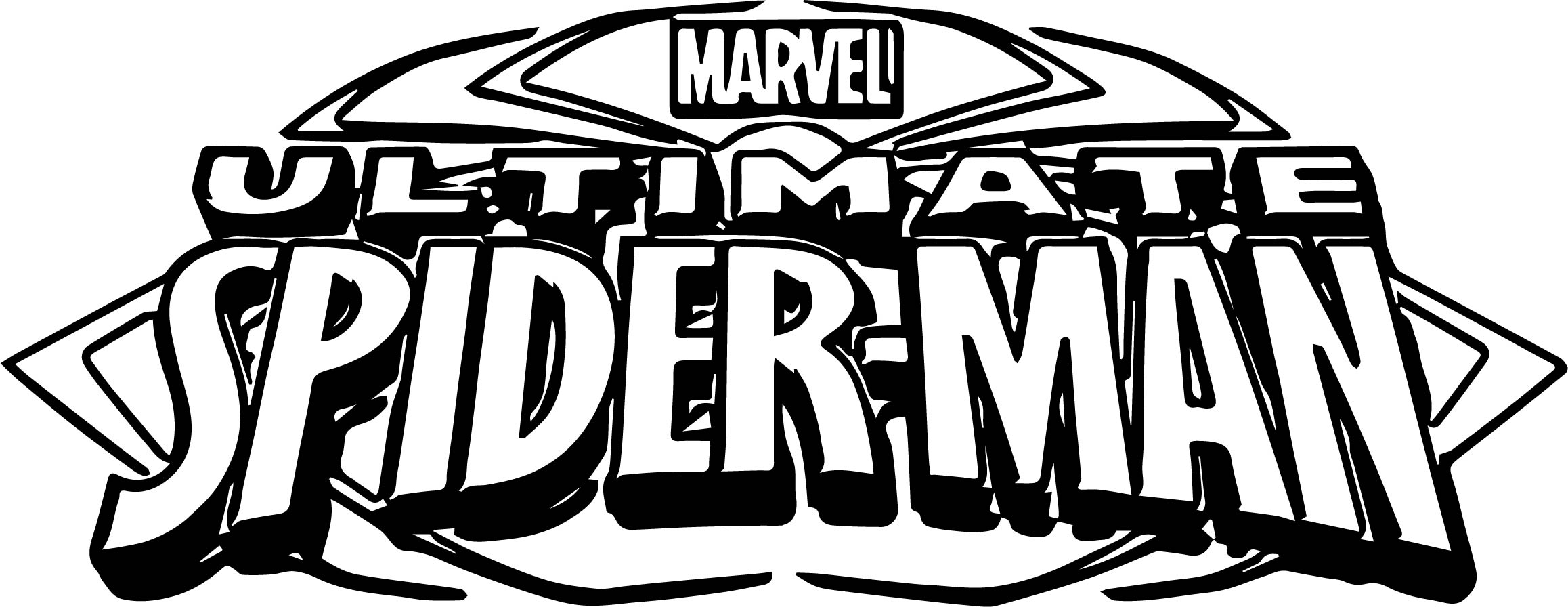 Ultimate Spider Man Logo Coloring Page