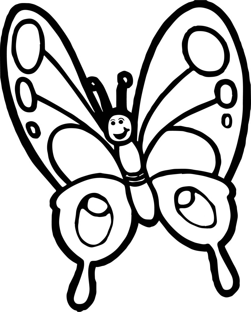 Very Cute Butterfly Coloring Pages
