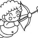 Very Happy Baby Cupido Coloring Page