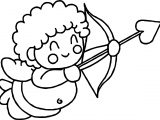 Very Happy Baby Cupido Coloring Page