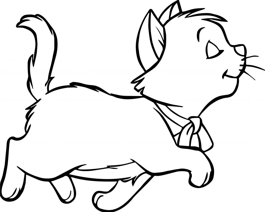 Walking Disney The Aristocats Coloring Page | Wecoloringpage