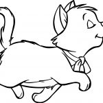 Walking Disney The Aristocats Coloring Page