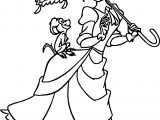 Walking Jane Parasol Monkey Coloring Page