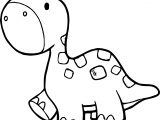 Walking Smaller Dinosaur Coloring Page