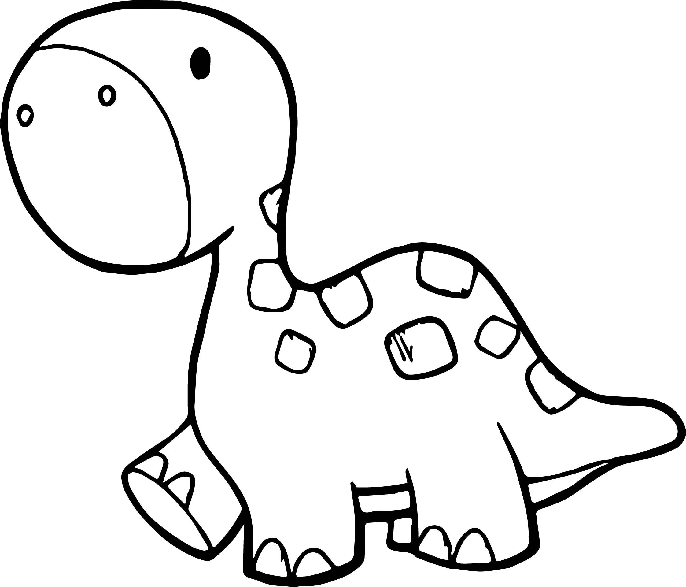 Walking Smaller Dinosaur Coloring Page