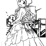 Wedding Squid Girl Coloring Page